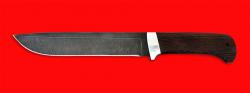 Нож Полярник, клинок дамасская сталь, рукоять венге