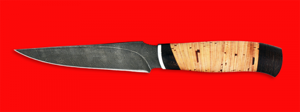 """Нож """"Колыма"""", клинок дамасская сталь, рукоять береста"""