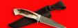 """Нож """"Сокол"""", цельнометаллический, клинок сталь 95Х18, рукоять лосиный рог"""