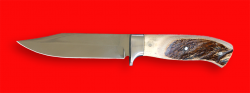 Нож Гюрза, цельнометаллический, клинок сталь 95Х18, рукоять лосиный рог