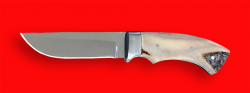 Охотничий нож Грибник, цельнометаллический, клинок сталь 95Х18, рукоять лосиный рог