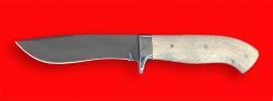 Охотничий нож Вальдшнеп-2, цельнометаллический, клинок сталь 95Х18, рукоять лосиный рог