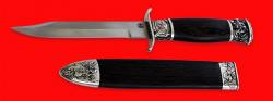 Композиция Крымская весна, клинок сталь ELMAX, рукоять и деревянный чехол из венге