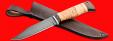 """Нож """"Пантера"""", клинок сталь Х12МФ, рукоять береста, с отверстием под темляк (ремешок)"""