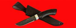 Нож Грибник, клинок тигельный булат, рукоять венге