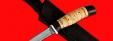 """Нож """"Тунец"""", клинок тигельный булат, рукоять береста"""
