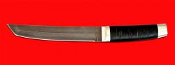"Нож ""Самурай большой"", клинок тигельный булат, рукоять кожа, металл"