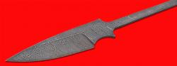 Клинок для ножа Атаман, клинок дамасская сталь