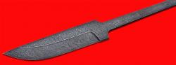 Клинок для ножа Бурундук, дамасская сталь