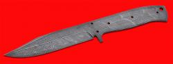 Клинок для ножа Гюрза, цельнометаллический, клинок дамасская сталь