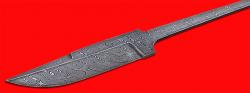 Клинок для ножа Классик, клинок дамасская сталь