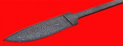Клинок для ножа Рыбка, клинок дамасская сталь