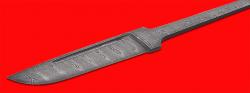Клинок для ножа Скандинавский средний (улучшенный), клинок дамасская сталь