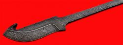 Клинок для ножа Скиннер-2, клинок дамасская сталь