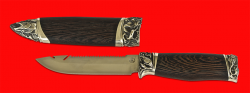 """Авторский нож """"Рыбацкий"""", клинок сталь 95Х18, рукоять венге, мельхиор"""