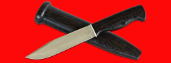 Нож охотничий Профессиональный таежный № 1, клинок сталь 95Х18, рукоять венге, деревянный чехол