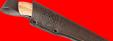 """Нож """"Грибник"""", клинок булатная нержавеющая сталь (нержавеющий булат), рукоять стабилизированная карельская берёза (цвет натуральный)"""