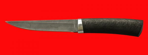 """Нож """"Секач"""", клинок булатная нержавеющая сталь (нержавеющий булат), рукоять карбон"""