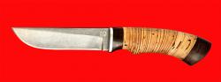 Нож Грибник, клинок булатная нержавеющая сталь (нержавеющий булат), рукоять береста