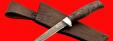 """Булатный нож """"Тунец"""", клинок тигельный булат, рукоять стабилизированная карельская берёза (цвет чёрный)"""
