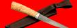 """Нож """"Секач"""", клинок тигельный булат, рукоять карельская берёза, заточка линза"""