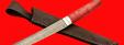 """Нож """"Самурай большой"""", клинок тигельный булат, рукоять стабилизированная карельская берёза (цвет розовый)"""