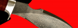 """Нож """"Кабан"""", клинок тигельный булат, рукоять стабилизированная карельская берёза (цвет розовый)"""