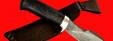 """Нож """"Сплав"""", клинок тигельный булат, рукоять стабилизированная карельская берёза (цвет тёмно-синий)"""