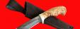 """Нож """"Филин"""", клинок тигельный булат, рукоять стабилизированная карельская берёза (цвет натуральный)"""