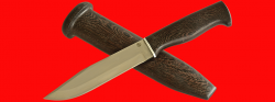Нож охотничий Профессиональный таежный № 1, клинок порошковая сталь ELMAX, рукоять венге, деревянный чехол