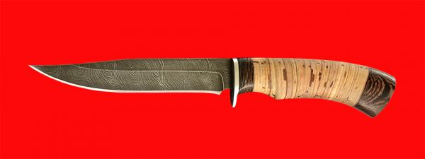 """Нож """"Багира"""", клинок дамасская сталь, рукоять береста"""