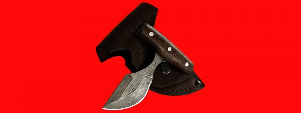 """Нож """"Кораблик"""", цельнометаллический, клинок дамасская сталь, рукоять венге"""