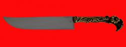 Авторский нож Восточный, клинок сталь 95Х18, рукоять латунь