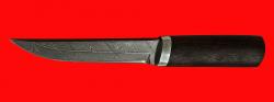 Охотничий нож Скиталец, клинок дамасская сталь, рукоять венге