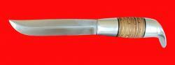 Финка Фронтовая, клинок сталь 95Х18, рукоять наборная береста-латунь