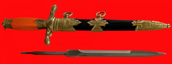 """Кортик """"Дипломатический МИД СССР"""", разборный, образца 1943 года, рукоять пластмасса"""