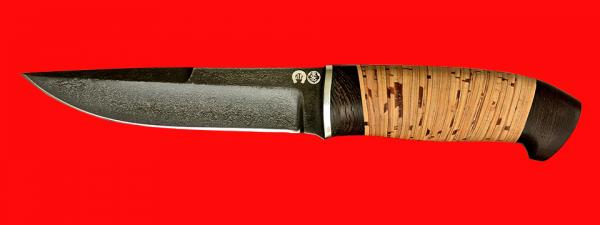 """Охотничий нож """"Марал"""", клинок тигельный композит (легированный булат), рукоять береста"""
