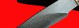 """Охотничий нож """"Рысь"""", клинок тигельный булат, рукоять наборная стабилизированная карельская береза (цвет натуральный), рог лося, кожа-латунь"""