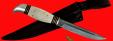 """Разборный нож """"Финка НКВД"""", клинок тигельный нержавеющий композит (нержавеющий булат), рукоять лосиный рог"""
