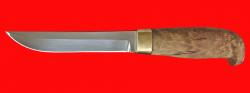 Нож Финка классическая, клинок сталь У8, рукоять карельская берёза