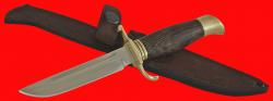 Финка НКВД, клинок сталь 95Х18, рукоять венге, латунь