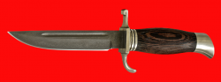 Финка НКВД, клинок сталь Х12МФ, рукоять венге, мельхиор