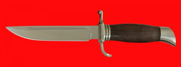 """Финка """"НКВД"""", клинок сталь У8, рукоять венге, мельхиор"""