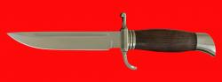 Финка НКВД, клинок сталь У8, рукоять венге, мельхиор