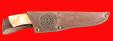 """Охотничий нож """"Ястреб"""", клинок булатная нержавеющая сталь (нержавеющий булат), рукоять наборная стабилизированная карельская берёза (цвет натуральный)"""