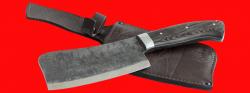 Нож Тяпка, цельнометаллическая, клинок сталь У8, рукоять венге