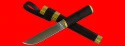 Алтайский охотничий нож, клинок авторский композит, рукоять венге, деревянный чехол