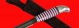 Финка 002, клинок дамасская сталь, рукоять наборный пластик