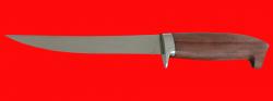 Филейный нож Судак средний, клинок сталь 65Х13, рукоять бубинга