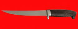 Филейный нож Судак средний, клинок сталь 65Х13, рукоять венге